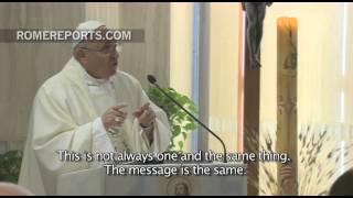 Pope in Santa Marta:  Embrace the power of the Holy Spirit
