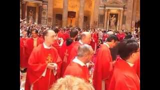 Rose Petals in Pantheon on Pentecost