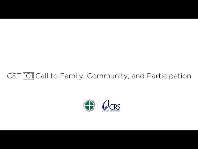 Call to Family, Community and Participation