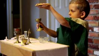 Child 'Celebrating' Mass